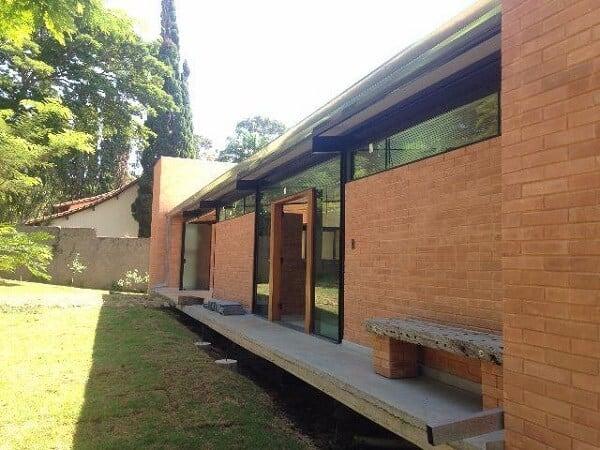 tijolo ecológico em casa moderna