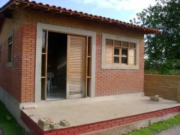 tijolo ecológico em casa pequena
