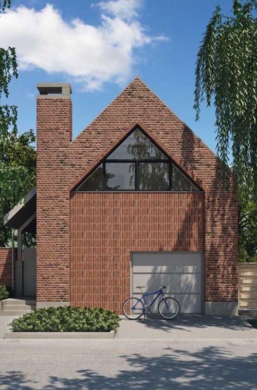 tijolo ecológico na fachada