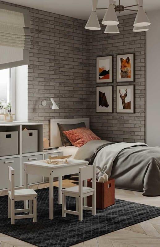tijolo ecológico no quarto