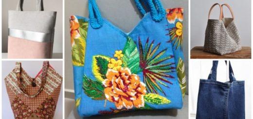 ideias de como fazer bolsa de tecido
