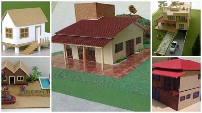 maquetes de casas