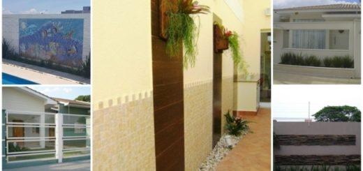 muros com detalhes decorativos