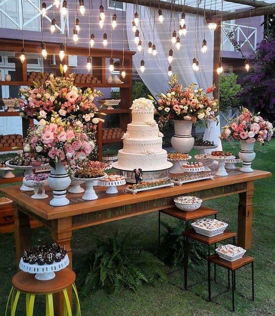 festa de casamento no quintal de casa