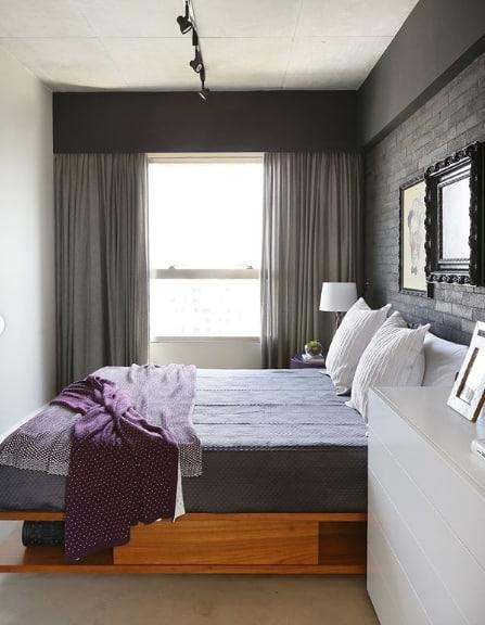 cama moderna com gavetas e nichos