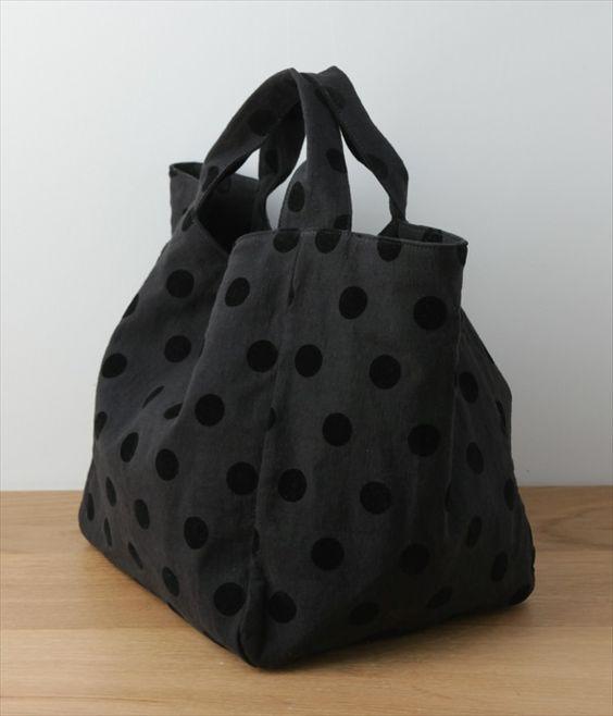 bolsa de tecido grande e simples