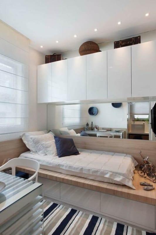 cama planejada com gavetas