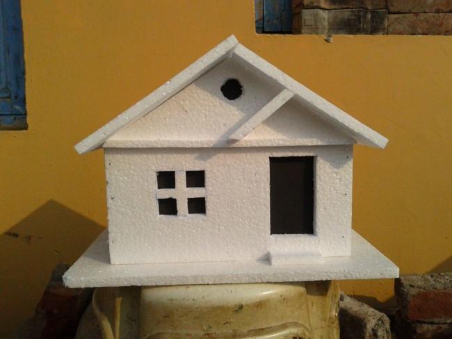 projeto de casa feito em isopor
