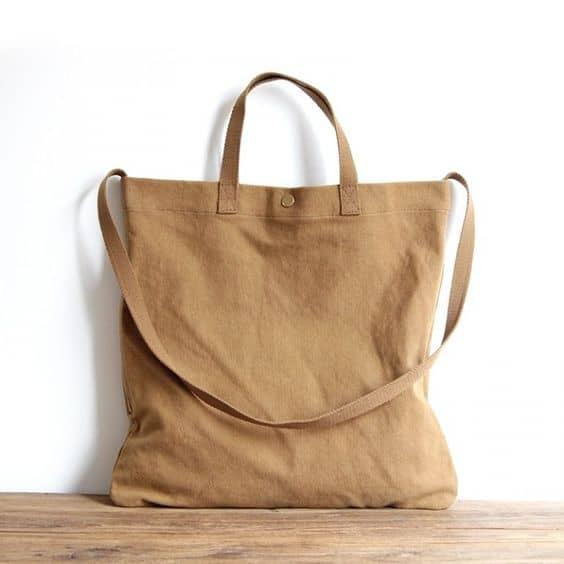 bolsa simples em tecido