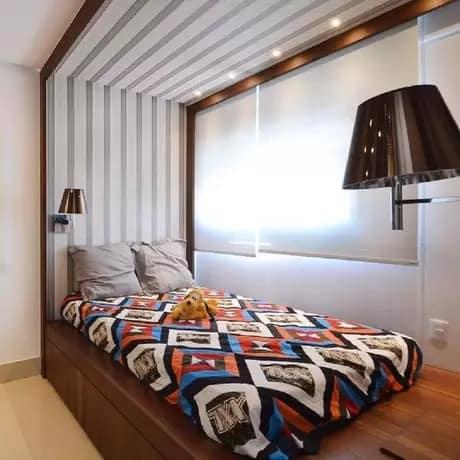 cama de solteiro moderna e com gaveta