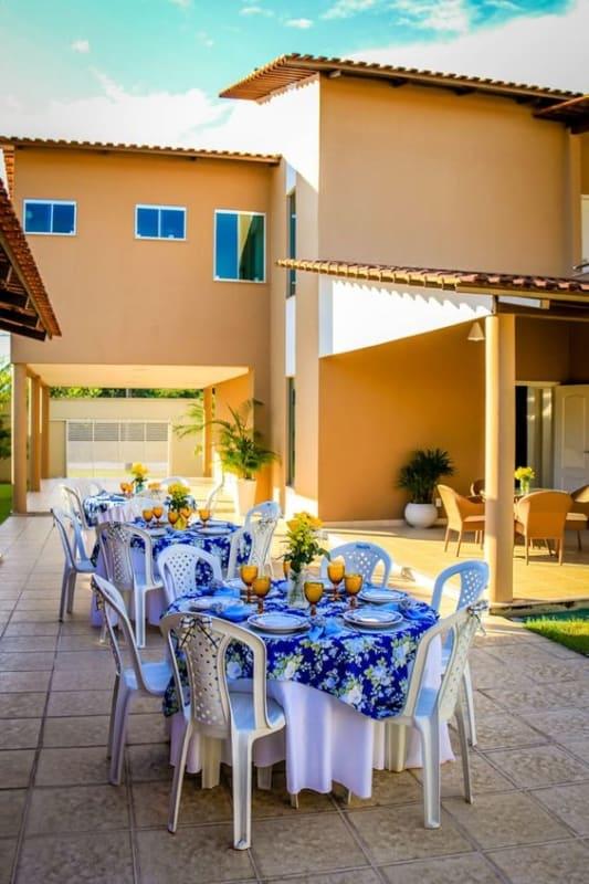 decoração mesas para festa de casamento no quintal