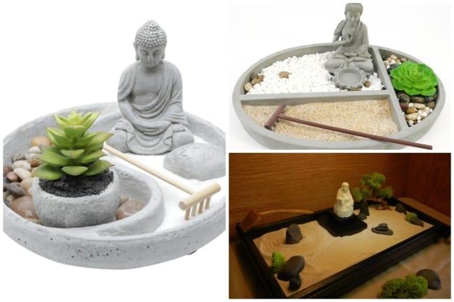 jardim zen com buda