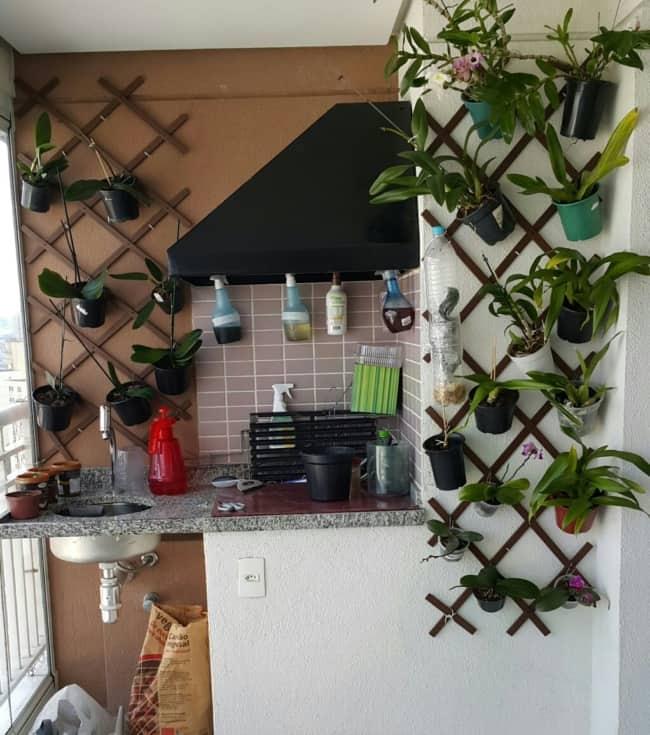 mini orquidário para sacada de apartamento