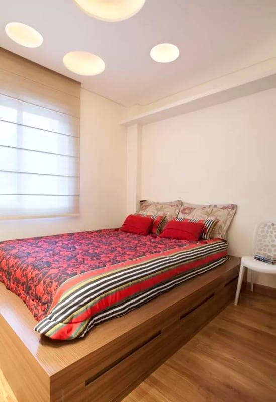 cama de MDF moderna com gavetas na base