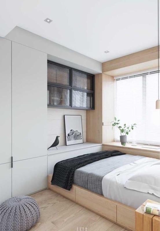 cama planejada moderna com gavetas