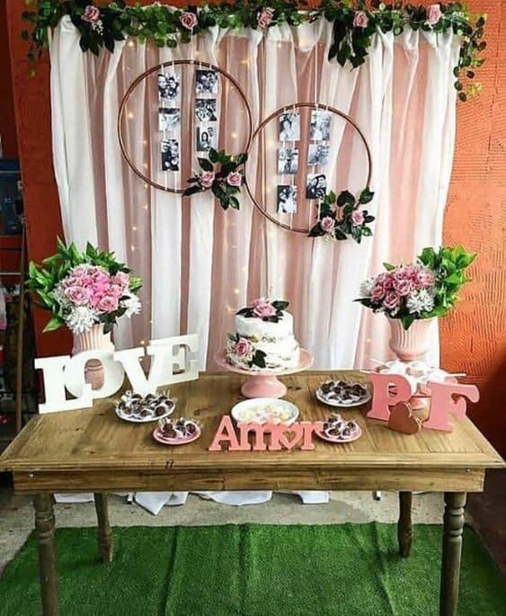 decoração simples para casamento pequeno