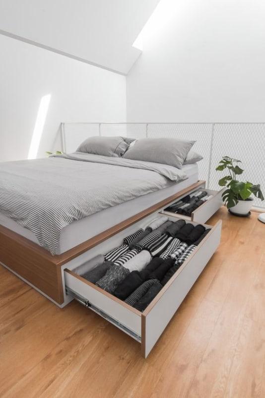 cama de casal com gavetas