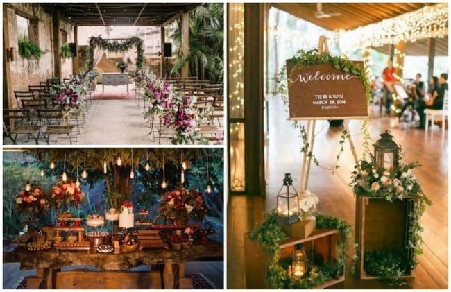 ideias de decoração para festa de casamento em casa