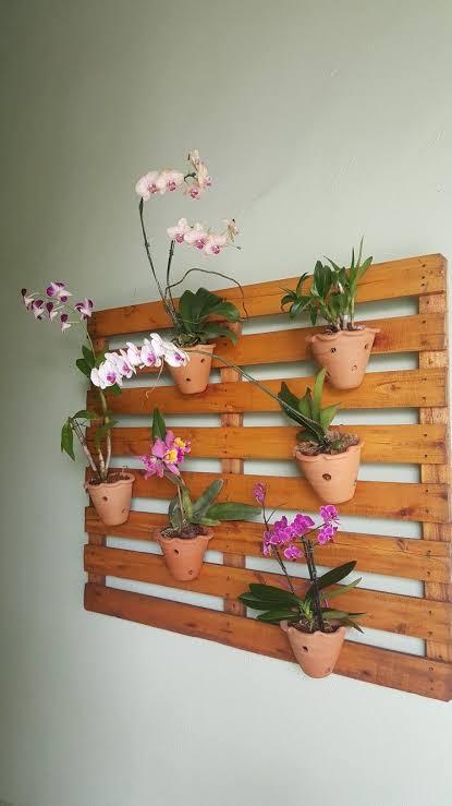 jardim vertical de palete