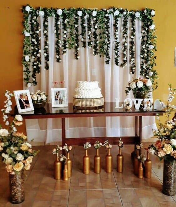 decoração barata para festa de casamento