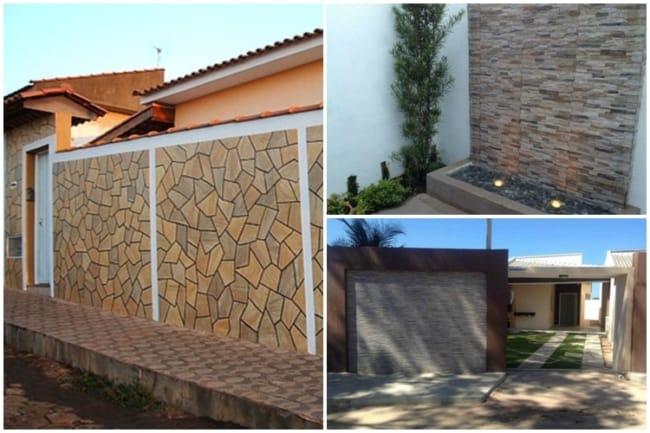 muros com detalhes em cerâmica