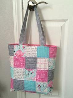 bolsa feminina de patchwork