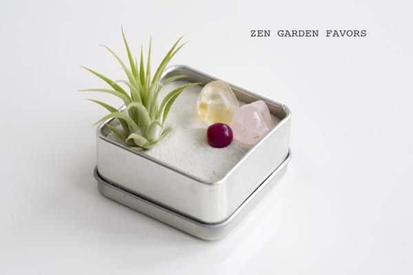 jardim zen simples e feito em lata