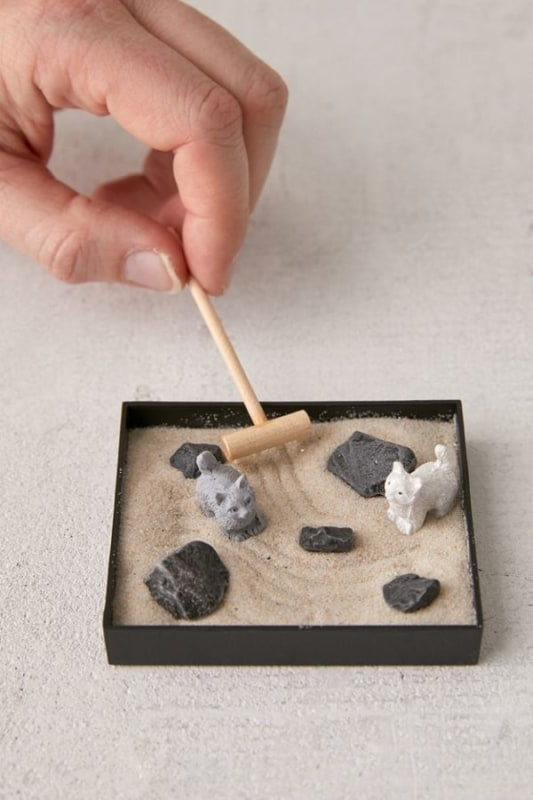 como fazer jardim zen barato