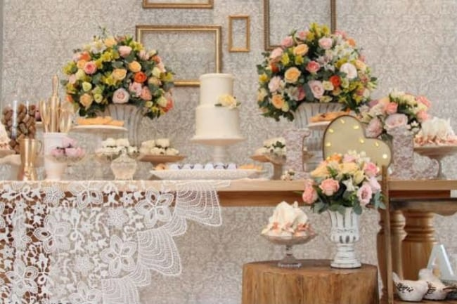 decoração simples para casamento civil em casa