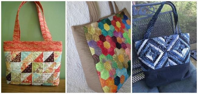 ideias para fazer bolsa patchwork
