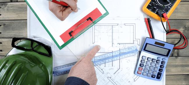 cálculo de área dos cômodos para projeto elétrico
