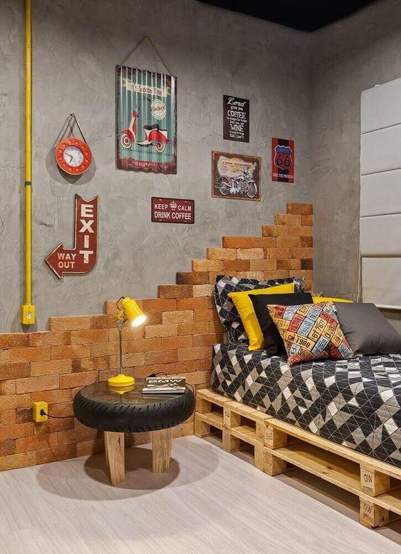 decoração simples e criativa para quarto masculino