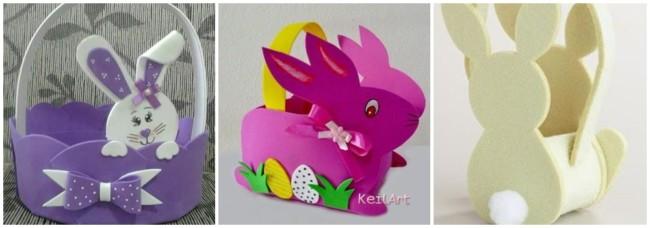 cestas de páscoa com coelho