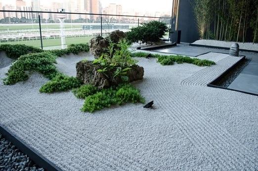 jardim para relaxar e meditar