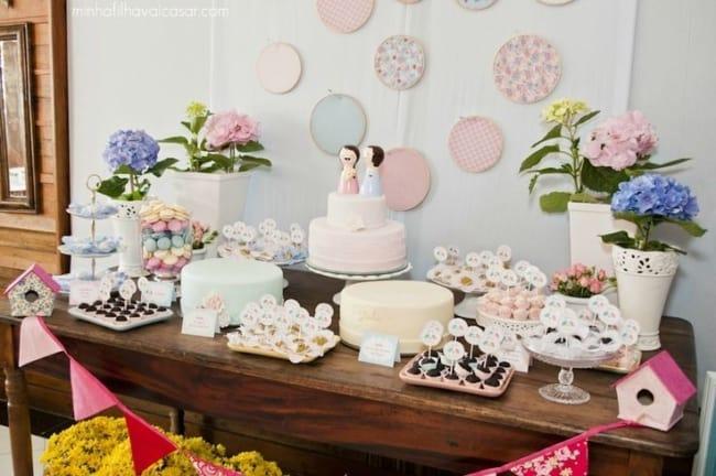 festa de casamento civil em casa