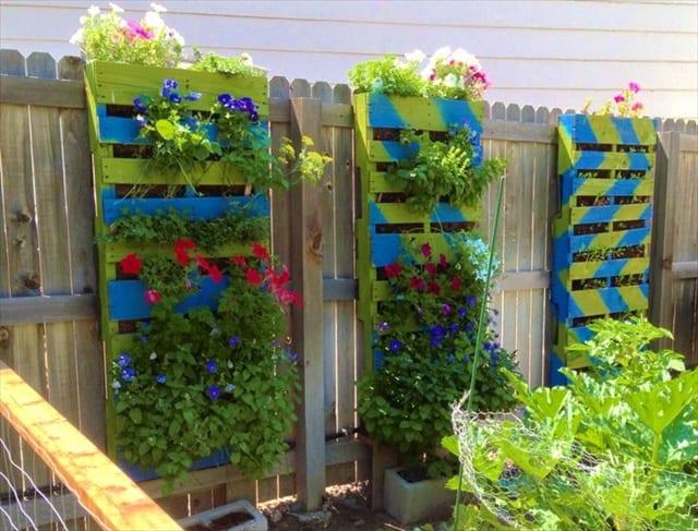 floreira decorada e colorida