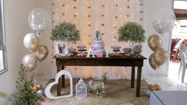 decoração de festa de casamento pequena em casa