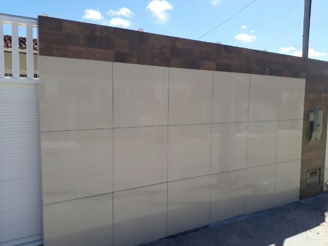 muro com porcelanato