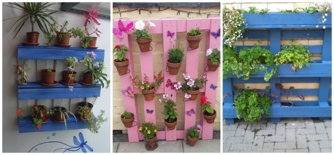 floreiras simples e coloridas
