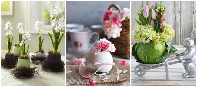 arranjo de flores para páscoa