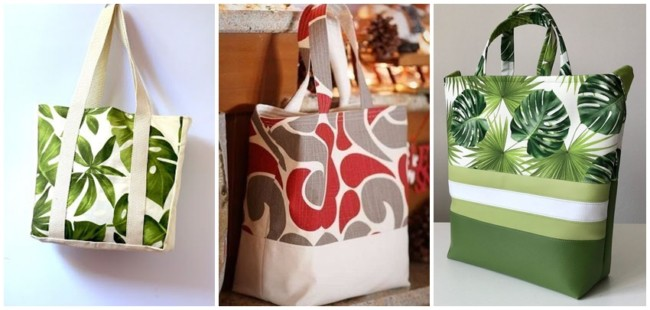 modelos de bolsa sacola em tecido
