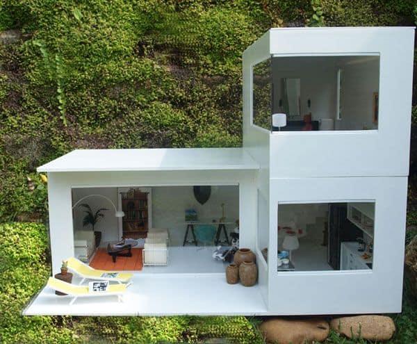maquete de casa minimalista e moderna