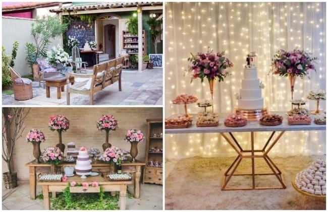 decoração para recepção de casamento em casa