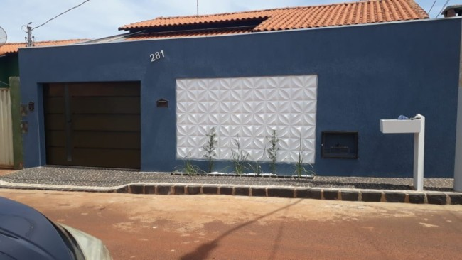 muro com revestimento 3D