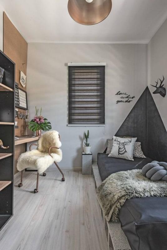 quarto moderno e pequeno para jovem