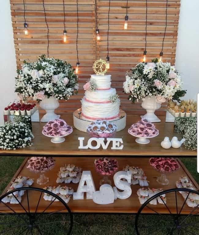 decoração vintage de festa de casamento