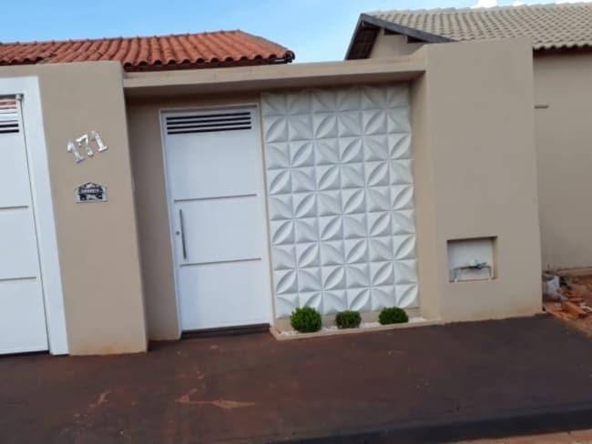 muro decorado com revestimento 3D