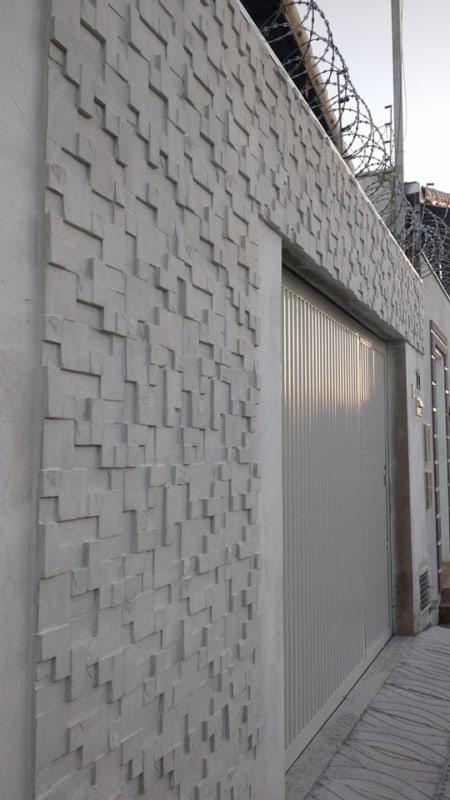 muro decorado com detalhe 3D