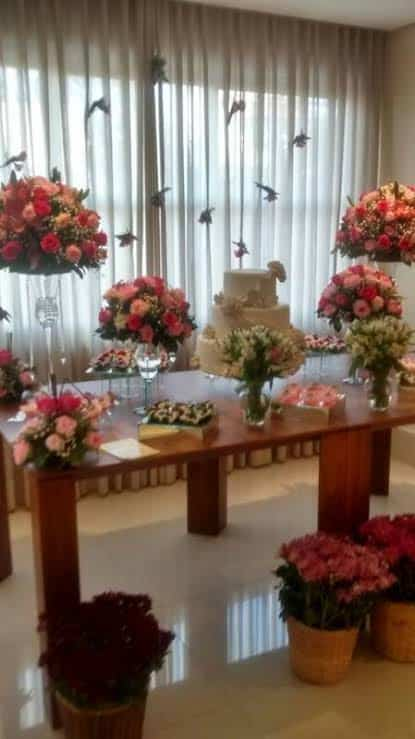 sala decorada para festa de casamento