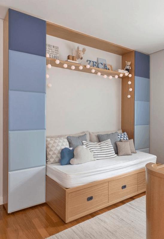 quarto infantil planejado com cama com gavetas